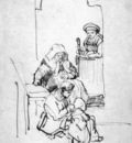 Rijn van Rembrandt Three women and a child Sun