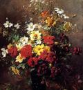 Rivoire Francois Still life with flowers Sun