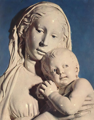 Robbia Madonna of the Apple detail1