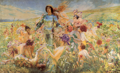 Rochegrosse The Knight of the Flowers
