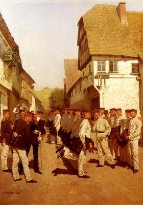 Rochling Carl Military Cadets Preparing For Parade