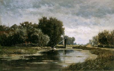Roelofs Willem Canal at Gouda Sun