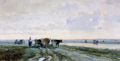 Roelofs Willem Shepherd near poldercanal Sun