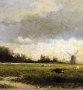 Roelofs Willem Cattle in polderlandscape Sun