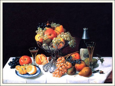 bs ahp Severin Roesen Fruit Still Life With Champagne Bottle