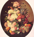 Still life with Flowers oval