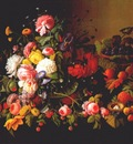 roesen still life flowers and fruit c1855