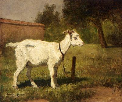 Ronner Knip Henriette A Goat In A Meadow