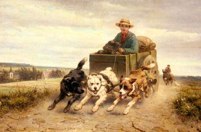 Ronner Knip Henriette The Dog Cart