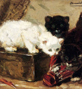 Ronner Knip Henriette Kittens At Play
