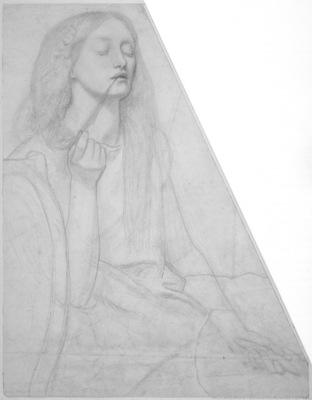 Rossetti Study for Delia