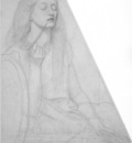 Rossetti Study for Delia