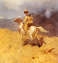 Roubaud Franz Horseman In A Mountainous Landscape