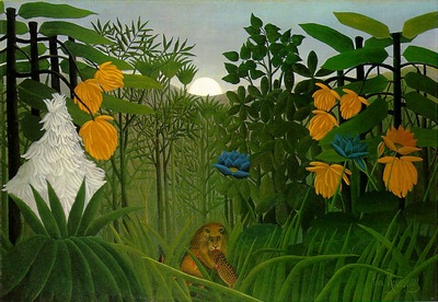 Rousseau,H  The repast of the lion, 1907, 113 7x160 cm, The