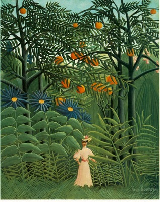 Rousseau,H  Woman Walking in an Exotic Forest Femme se prom