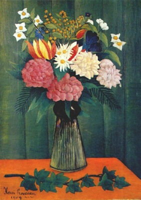 rousseau flowers in a vase