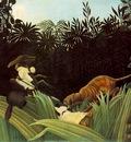 Rousseau,H  Scout Attacked by a Tiger Eclaireur attaque par