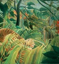 tiger in a tropical storm surprised , rousseau, 1891