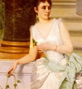 Ruben Franz Leo Portrait Of A Lady With A Green Satin Sash