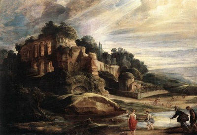 Landscape with the Ruins of Mount Palatine in Rome WGA