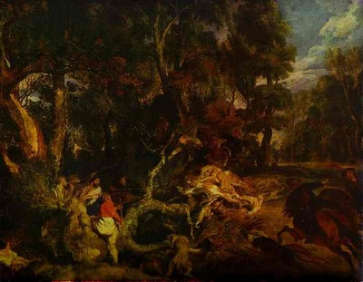 Peter Paul Rubens A Boar Hunt