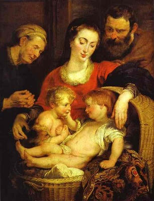 Peter Paul Rubens Holy Family with St  Elizabeth Madonna of the Basket