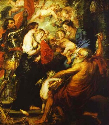 Peter Paul Rubens Madonna with the Saints