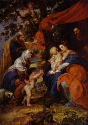 Peter Paul Rubens The St  Ildefonso Altar outer wings  The Holy Family under the Apple Tree
