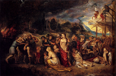 Rubens Aeneas And His Family Departing From Troy