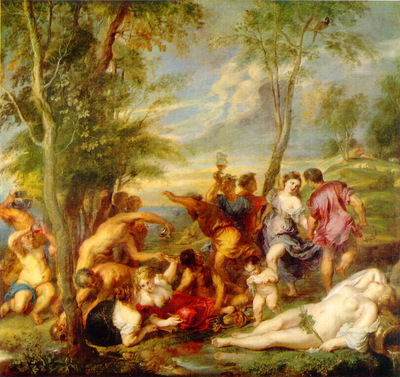 Rubens Backanal pA Andros efter Tiziano , Ca 1630 35, 200x2