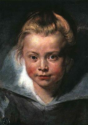 Rubens Childs head, 1618, Leichtenstein Collection Vaduz, L
