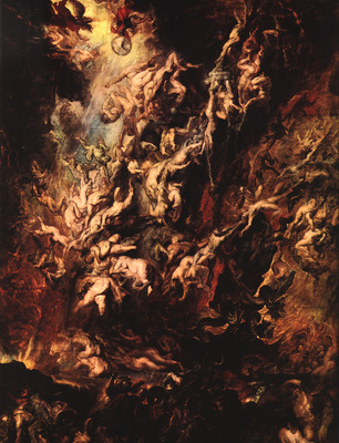 Rubens Fall of the Rebel Angels, 1620, oil on panel, Pinakot