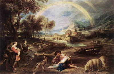 rubens landscape with a rainbow 1632