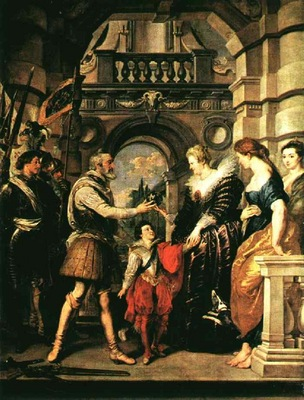 Rubens Marie Becomes Regent, 1621 1625, Louvre
