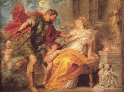 Rubens Mars and Rhea Silvia