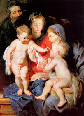 Rubens Peter Paul Holy family Sun