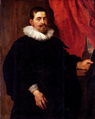 Rubens Peter Paul Portrait Of A Man Probably Peter Van Hecke