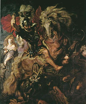 Rubens Saint George ans the dragon, 1606 1610, Prado