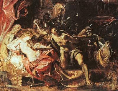 Rubens The Capture of Samson, 1609 10, oil on panel, The Art