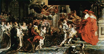 Rubens The Coronation of Marie, 1621 1625, Louvre