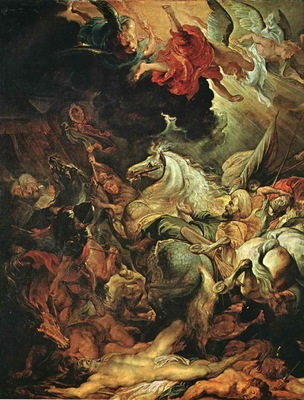 Rubens The Defeat of Sannacherib Detail of left side