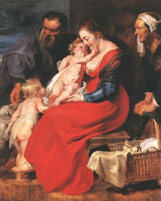 Rubens The Holy Family with Saints Elizabeth and John the Ba
