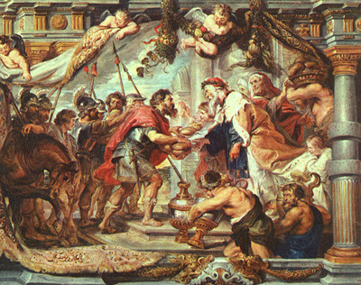Rubens The Meeting of Abraham and Melchizedek, 1625, wood, T