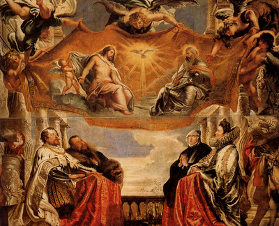 Rubens The Trinity Adored By The Duke Of Mantua And His Family