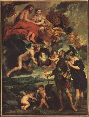 bs Rubens Presentation of Portrait [1633]
