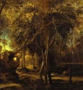 Peter Paul Rubens A Forest at Dawn with a Deer Hunt
