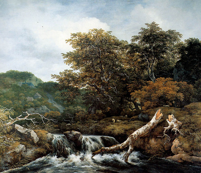 Ruisdael Jacob Waterfall Sun