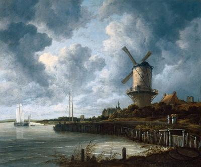 Ruisdael van Jacob Mill at Wijk van Duurstede Sun