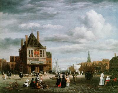 Ruisdael van Jacob View on the Dam and Damrak in Amsterdam Sun