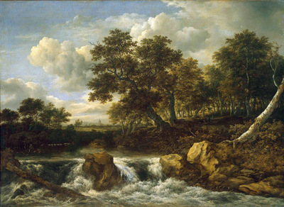 Ruisdael van Jacob Waterfall Sun
